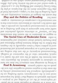 Play And The Politics Of Reading