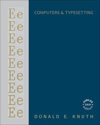 Computers & Typesetting, Volume E