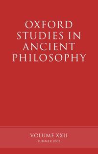 Oxford Studies in Ancient Philosophy volume XXII