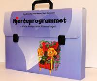 Hjerteprogrammet. Sosial kompetanse i barnehagen. 1 magnettavle med bilder. 9 illustrerte samtalekort. 1 veiledning. Emballert i plastkoffert