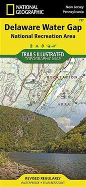 National Geographic Delaware Water Gap National Recreation Area Map