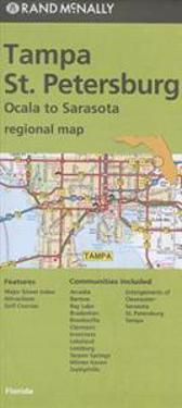 Rand McNally Tampa/St. Petersburg, Florida Regional Map: Ocala to Sarasota