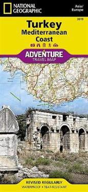 National Geographic Adventure Map Turkey Mediterranean Coast