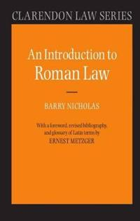 An Introduction to Roman Law