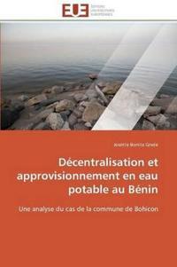 Decentralisation Et Approvisionnement En Eau Potable Au Benin