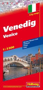 Venedig Hallwag stadskarta : 1:5500