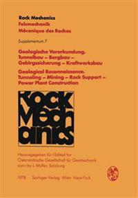 Geologische vorerkundung: Tunnelbau - Bergbau - Gebirgssicherung - Kraftwerksbau / Geological Reconnaissance: Tunneling - Mining - Rock Support - Power Plant Construction