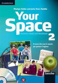 Your Space Level 2 Student's Book and Workbook with Audio CD and Companion Book with Audio CD Italian Edition