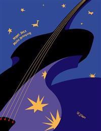 Night Jazz Music Notebook: 12 Stave