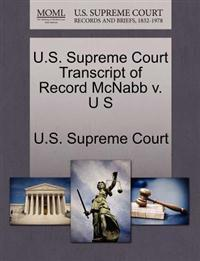 U.S. Supreme Court Transcript of Record McNabb V. U S