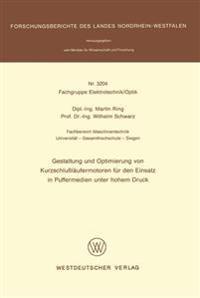 Gestaltung Und Optimierung Von Kurzschlußläufermotoren Für Den Einsatz in Puffermedien Unter Hohem Druck