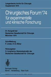 Chirurgisches Forum '74