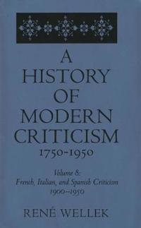 French, Italian, and Spanish Criticism, 1900-1950