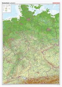 Posterkarten Geographie: Riesenposter Deutschland, physisch. 1 : 750.000