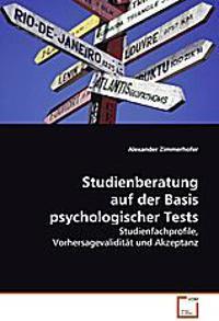 Studienberatung auf der Basis psychologischer Tests