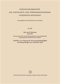 Verfahren Zur Prüfung Der Korrosionsbeständigkeit Von Messerklingen Aus Rostfreiem Stahl