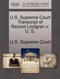 U.S. Supreme Court Transcript of Record Lindgren V. U. S.