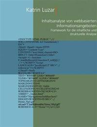 Inhaltsanalyse Von Webbasierten Informationsangeboten