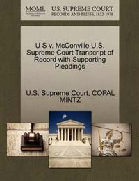 U S V. McConville U.S. Supreme Court Transcript of Record with Supporting Pleadings