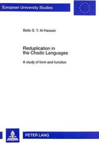 Reduplication In The Chadic Languages