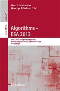 Algorithms - ESA 2013
