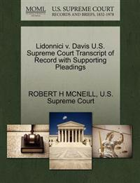 Lidonnici V. Davis U.S. Supreme Court Transcript of Record with Supporting Pleadings