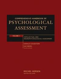 Comprehensive Handbook of Psychological Assessment, Volume 1: Intellectual and Neuropsychological Assessment