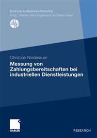 Messung Von Zahlungsbereitschaften Bei Industriellen Dienstleistungen
