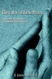 Thirty Days of Focus Prayer: A Thirty-Day Devotional for Governmental Prayer Strategies