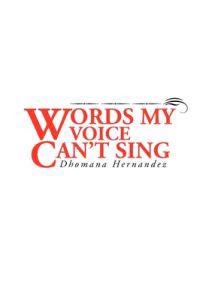 Words My Voice Can't Sing
