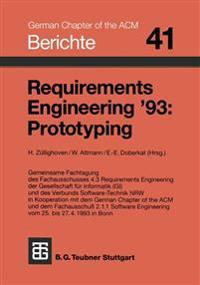 Requirements Engineering '93