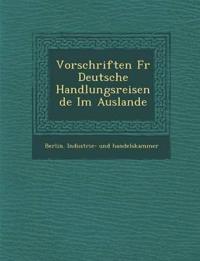 Vorschriften Fur Deutsche Handlungsreisende Im Auslande
