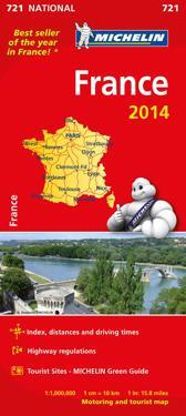 Frankrike 2014 Michelin 721 karta