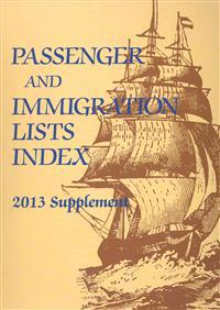 Passenger and Immigration Lists Index 2013