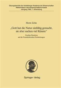 """""""Gott Hat die Natur Einfaltig Gemacht, Sie Aber Schon Viel Kunste"""""""
