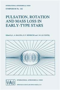 Pulsation, Rotation and Mass Loss in Early-type Stars