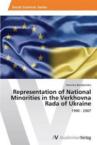 Representation of National Minorities in the Verkhovna Rada of Ukraine