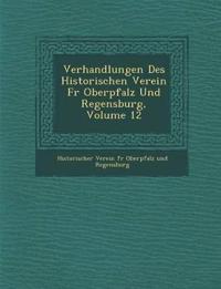 Verhandlungen Des Historischen Verein Fur Oberpfalz Und Regensburg, Volume 12