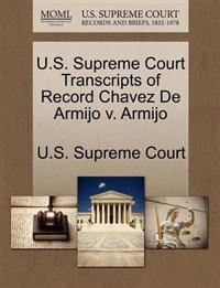 U.S. Supreme Court Transcripts of Record Chavez de Armijo V. Armijo