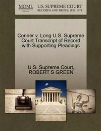 Conner V. Long U.S. Supreme Court Transcript of Record with Supporting Pleadings