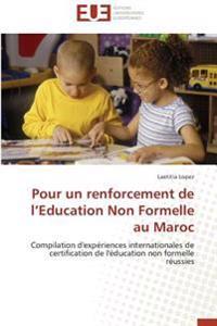 Pour un renforcement de l'Education Non Formelle au Maroc