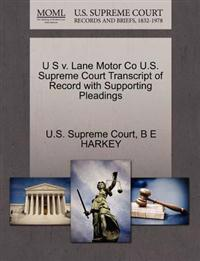 U S V. Lane Motor Co U.S. Supreme Court Transcript of Record with Supporting Pleadings