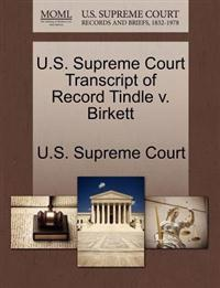 U.S. Supreme Court Transcript of Record Tindle V. Birkett