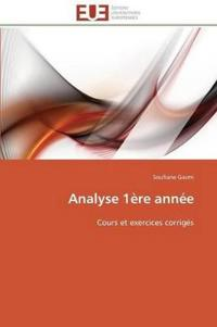 Analyse 1�re Ann�e