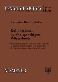 Kollokationen im zweisprachigen Woerterbuch