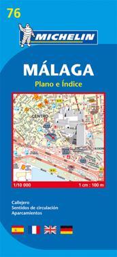 Malaga Michelin 76 stadskarta : 1:10000
