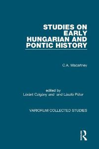 Studies on Early Hungarian and Pontic History