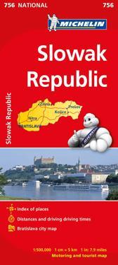 Slovakien Michelin 756 karta : 1:500000