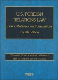 U.s. Foreign Relations Law