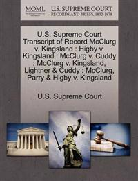 U.S. Supreme Court Transcript of Record McClurg V. Kingsland